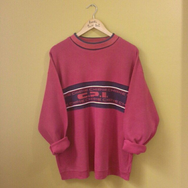 4013b8fa1 VINTAGE 90'S CHIPIE RED SWEATER!! COOL 90'S DESIGN ACROSS 2 - Depop