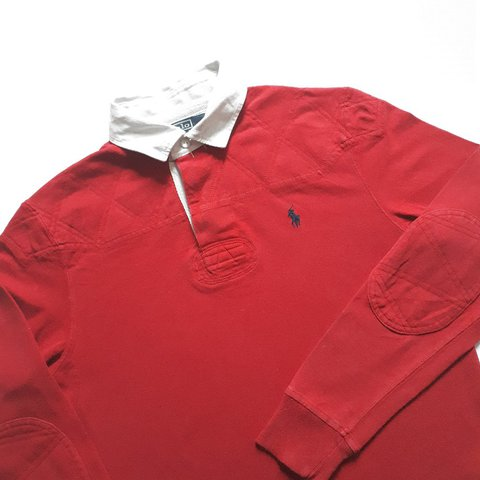 a9975b4a2c0 @kookitwobit. last year. Wales, UK. Vintage Ralph Lauren Polo red rugby  jersey.