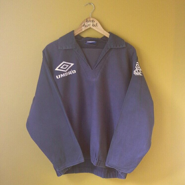 Vintage Navy Umbro Pro Training Top Umbro Logo To Front Depop
