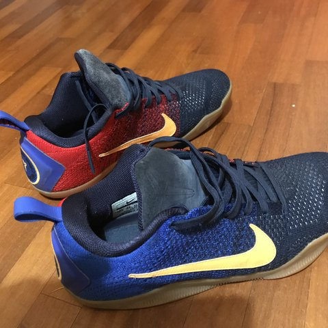 """online store 6c7f8 c8ca0 NIKE Kobe 11 Mambacurial """"barcelona"""", Us 9,5 Condition 9 10 - Depop"""