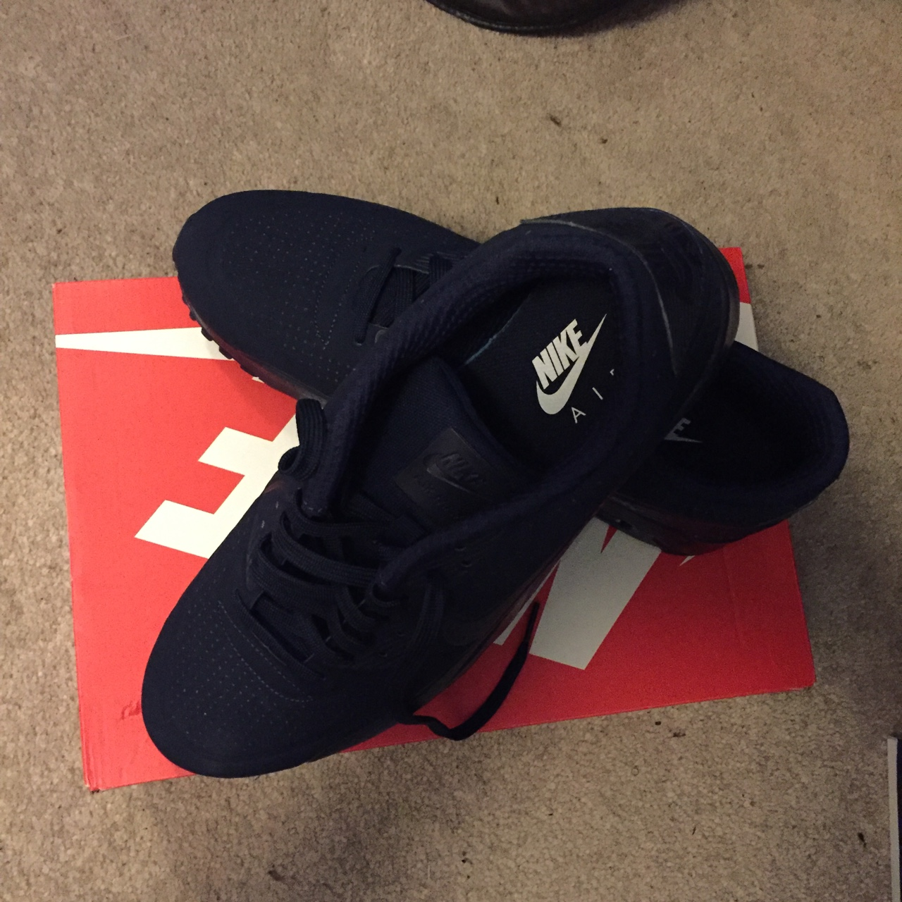 Nike Air Max 90 Ultra Moire Midnight Navy, Size: 11, Depop