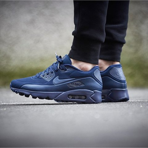 finest selection ea6fb 6ff48  chazzer13. 2 years ago. Enfield, United Kingdom. Nike Air Max 90 Ultra  Moire Midnight Navy ...