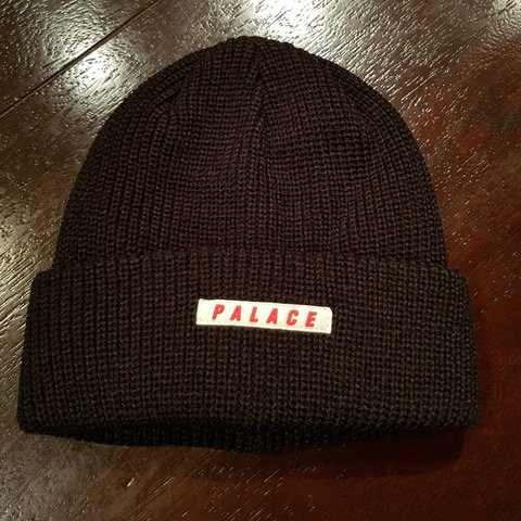 032f0ddd281 Palace Space Beanie Cap Hat Black Brand new Unisize - Depop