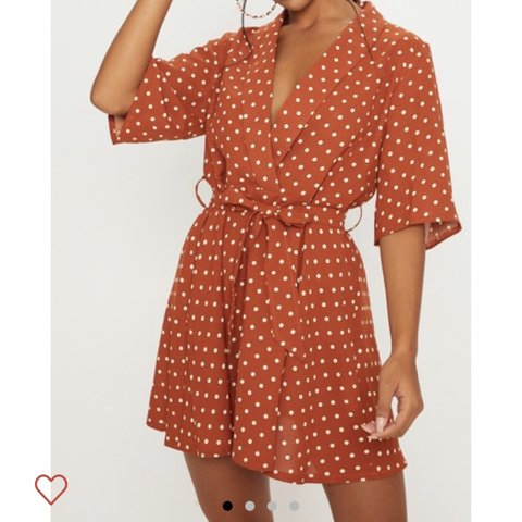 abd3a8542f9  katiemortonn. 20 days ago. United Kingdom. Terracotta polka tea dress