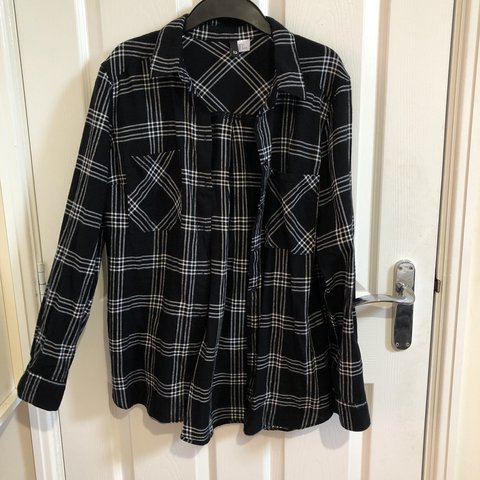 69620a2708b2 H M Black checkered shirt. Size 12. Perfect condition. Never - Depop