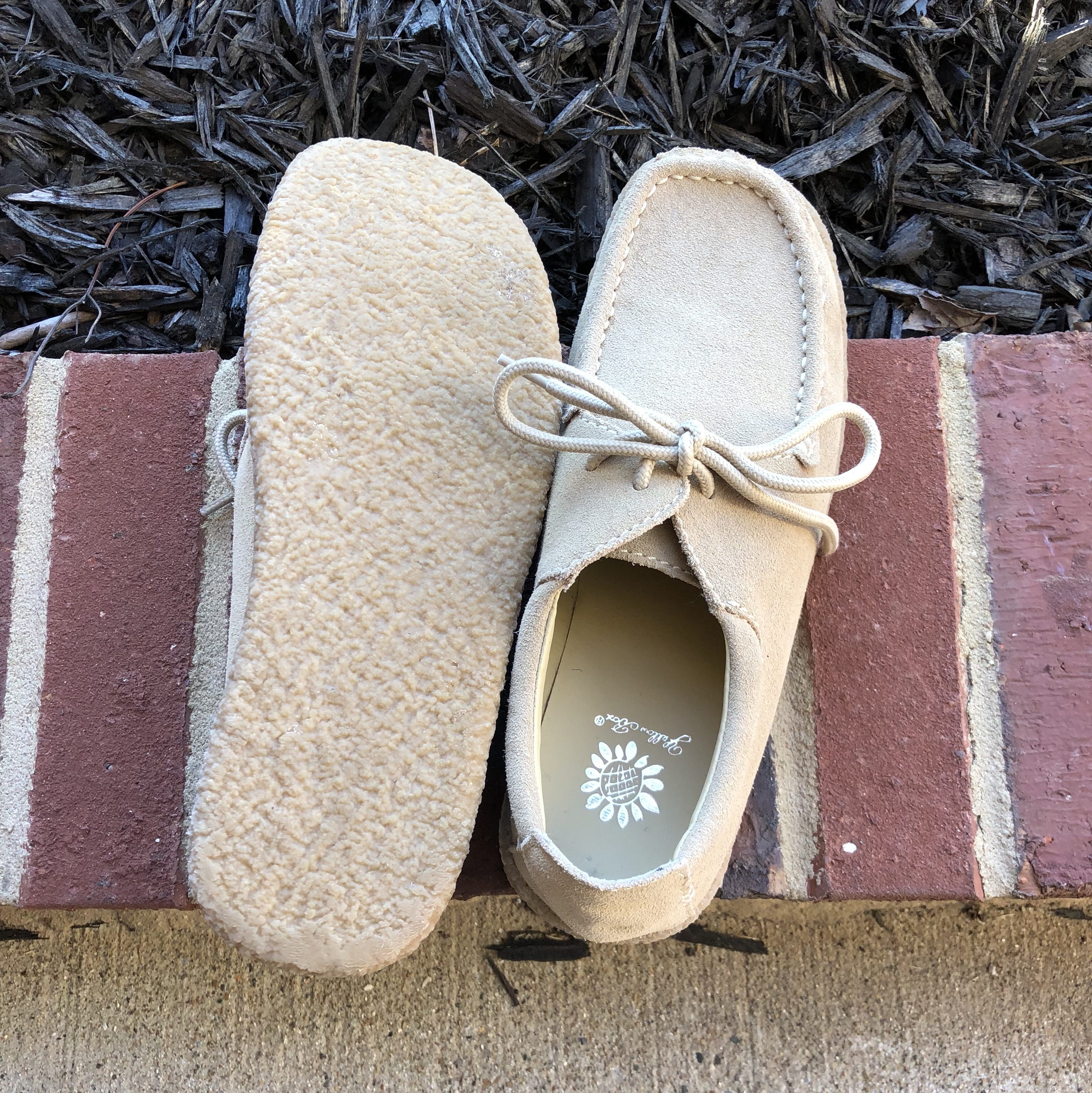 Suede wallabee look-a-likes. these are