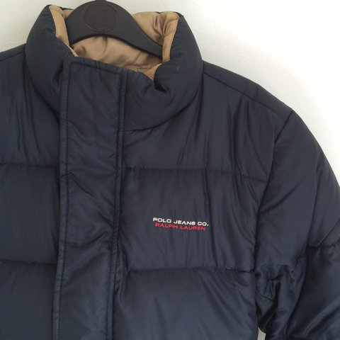 1bd3d471a @grumpysel. 4 years ago. London, UK. navy Ralph Lauren Polo Jeans puffer  jacket down filled winter coat, size S fits sizes 8 10 12.
