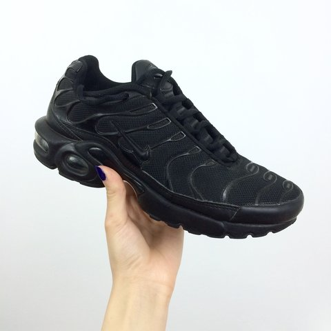 3d97497371 @grumpysel. 3 years ago. Enfield, Enfield, Greater London, UK. Nike Air Max  Plus TN TNs • size UK 5 • triple black ...