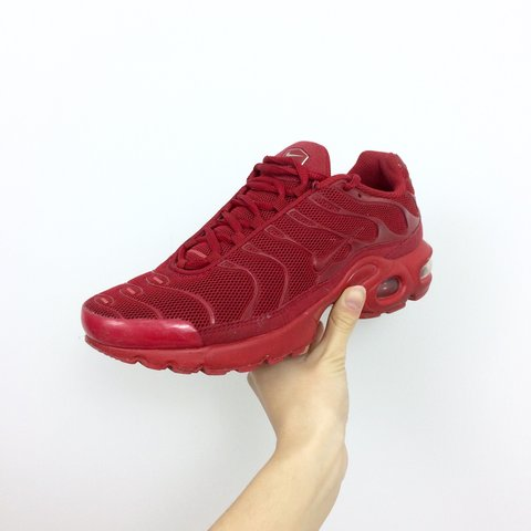 0e61a150e1 ... discount code for nike air max plus tn triple red tns u2022 size uk 5.5  u2022