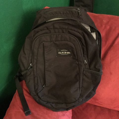 82cc2e40af68 black dakine backpack in good condition. flaws are shown