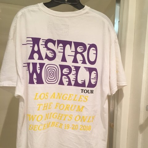 62f4c98e7 TRAVIS SCOTT ~ ASTROWORLD ~ LA LAKERS exclusive shirt with - Depop