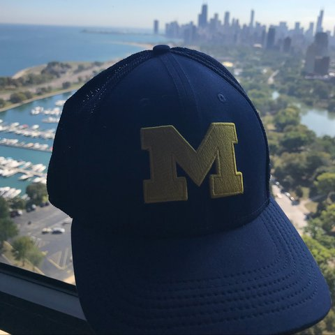e393b61f934 ... good university of michigan fitted nike hat new never worn depop 91824  45a43