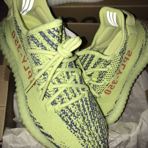 4d94187e162 adidas Yeezy 350 V2 Semi Frozen Yellow uk 6.5 for sale.   - Depop