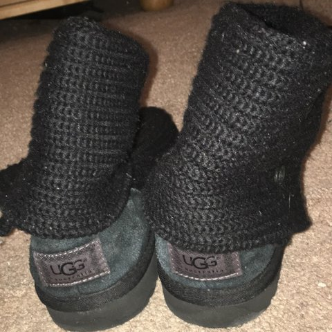 Black Knit Uggs Barely Worn And No Signs Of Tearing Or Size Depop