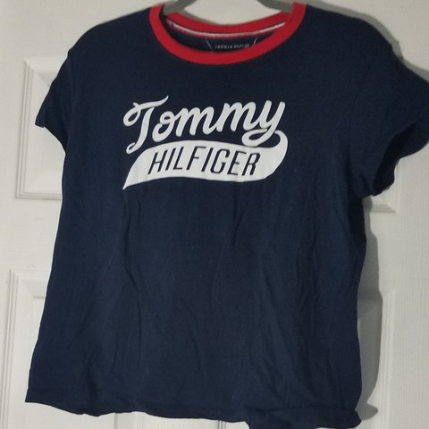 6bd38970 @skateboardia. 7 months ago. Levittown, Bucks County, United States. TOMMY  HILFIGER TEE SHIRT navy blue, red, and white