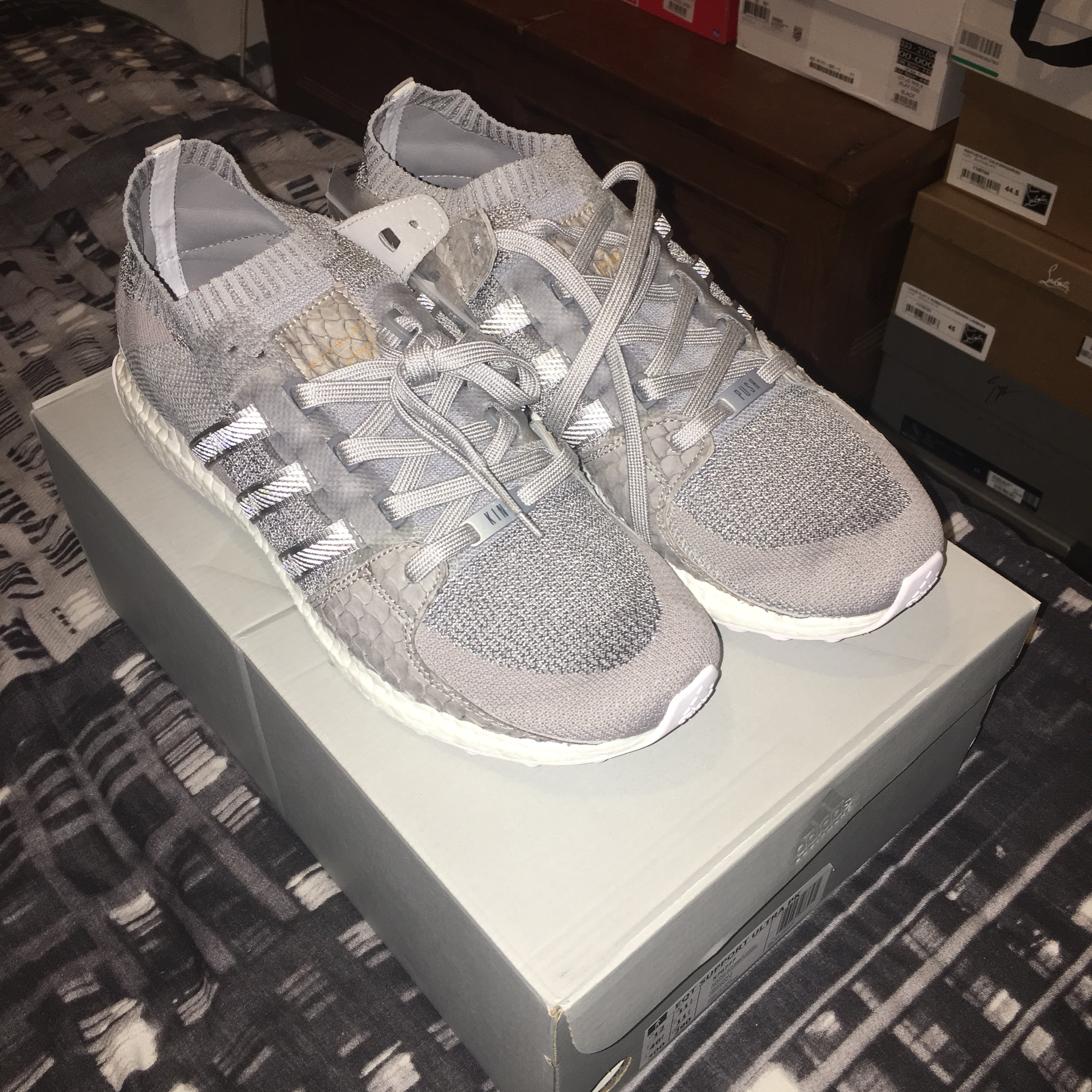820b11949e101 Adidas x king push EQT boost Uk 11.5 Brand new OG box - Depop