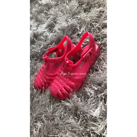 37c4cd05a Size 5 next jelly shoes  girls  set  clothes  shoes  top - Depop