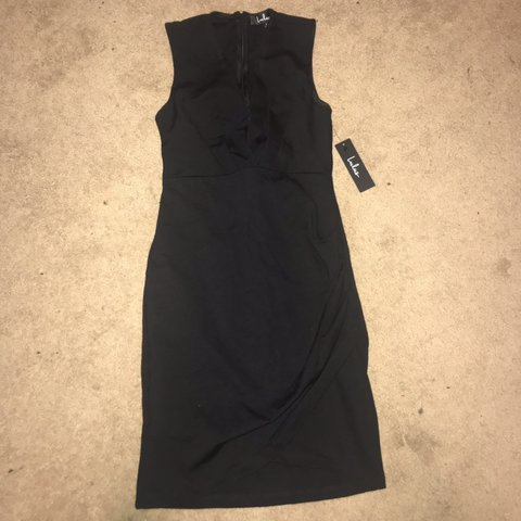 6a4dbf74a98 lulus cocktail hour black wrap dress. new with tags. size - Depop