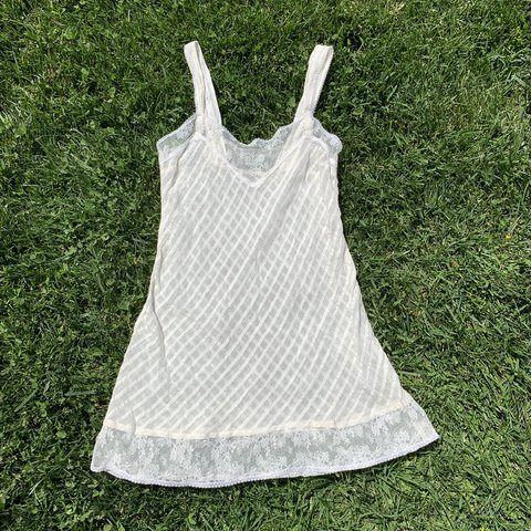 c21048d3c7e4 the most perfect little cream lace slip dress! this is my i - Depop