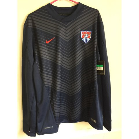35e791585f4 Nike USA Therma-Fit Long Sleeve USA Soccer Jersey Brand New - Depop