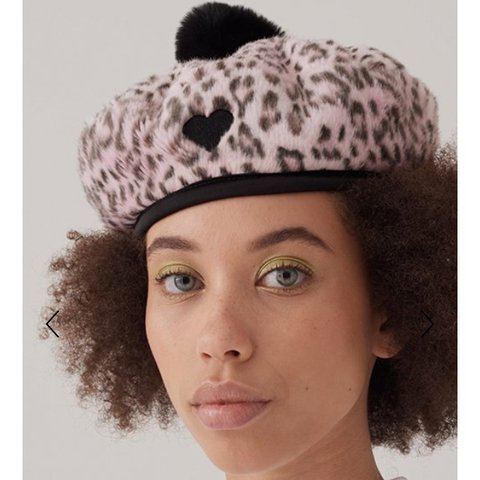 e4053d3ddde0b Lazy Oaf Leopard print beret  NEVER WORN  Originally sold - Depop