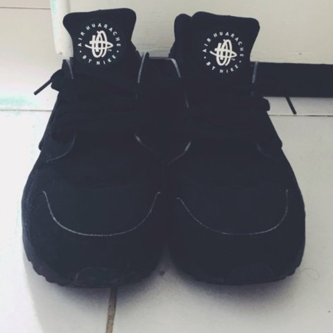 e8f72cc2022a8 Triple black huarache trainers. Size 9. 10 10 condition only - Depop