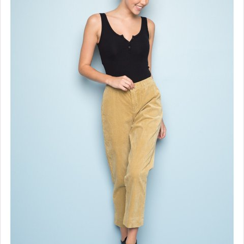338dc7f8056acb @kimicock. last year. United States. Autumn corduroy pants from brandy  Melville!