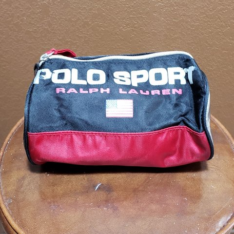 bccf5db082 Vintage polo sport ralph lauren toiletries bag black red and - Depop