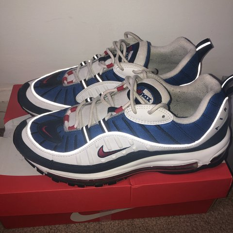 3f785a443a air max 98 gundam size 10 In good condition 8/10 Comes with - Depop
