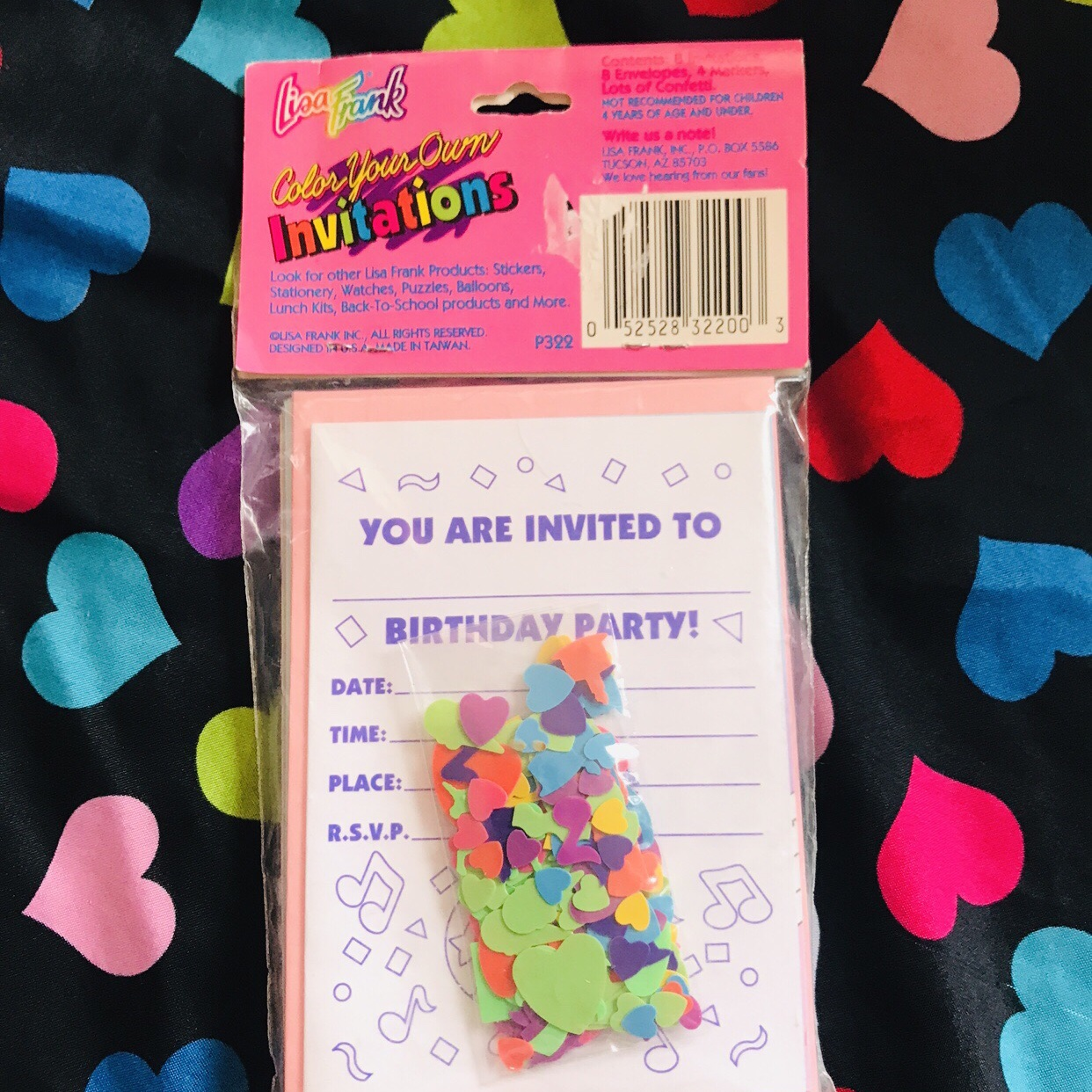 Vintage Lisa Frank Invitations These Are Super Cute