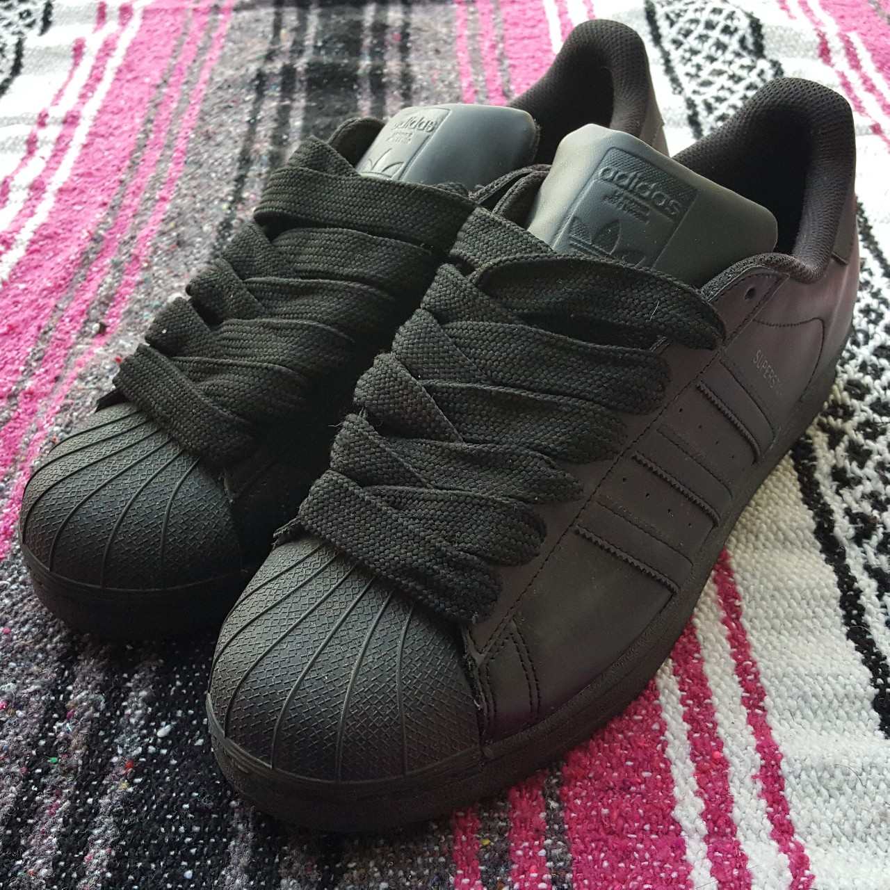 adidas superstar fat laces