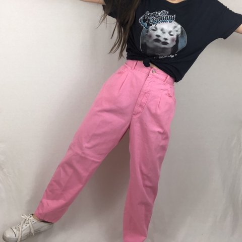 e32d44e6 @izzycra. 12 days ago. Des Moines, United States. Vintage 80s Bright Pink  Lee Pants! Great condition! Tagged size 14