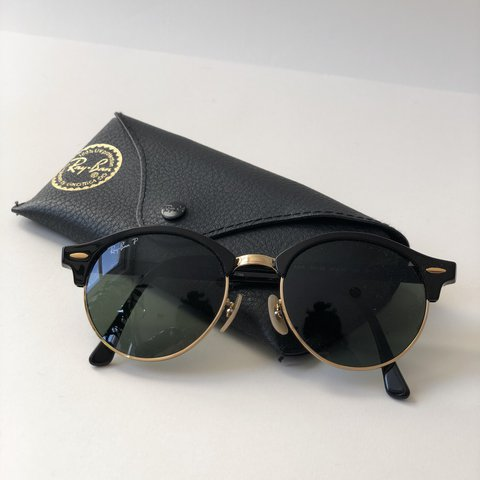 7a96a23afeeb0 RayBan Clubmaster Round Sunglasses - Black Gold - Never Used - Depop