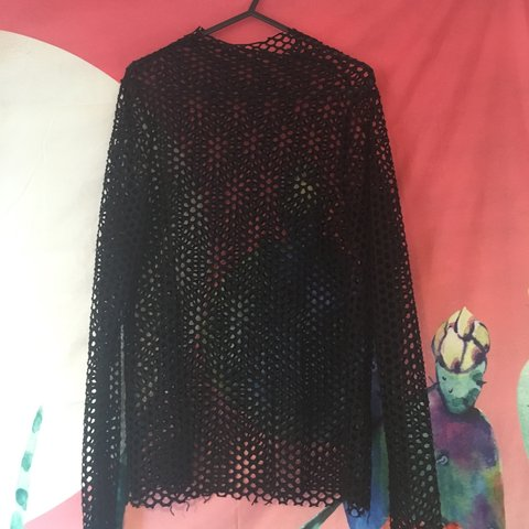 70b927a1fc14e asos long sleeve fishnet top. Great for nights out   ! i get - Depop