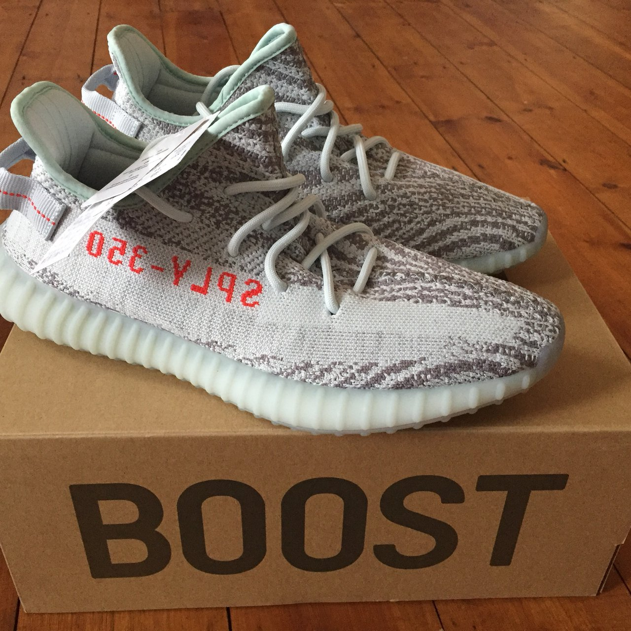Last pair of Adidas Yeezy Boost 350 V2 Blue Tint Deadstock - Depop 0919835d5