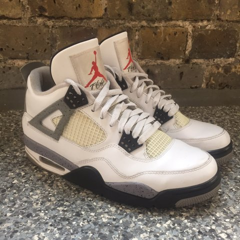 87653cc550bff3 Nike Air Jordan Retro 4 Cements (2012) Size UK 7 These are - Depop