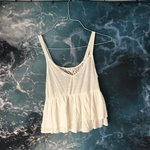 53aff74c Aeropostale tank top! Cute ombré. $5 · Soft ivory/white sheer and lace