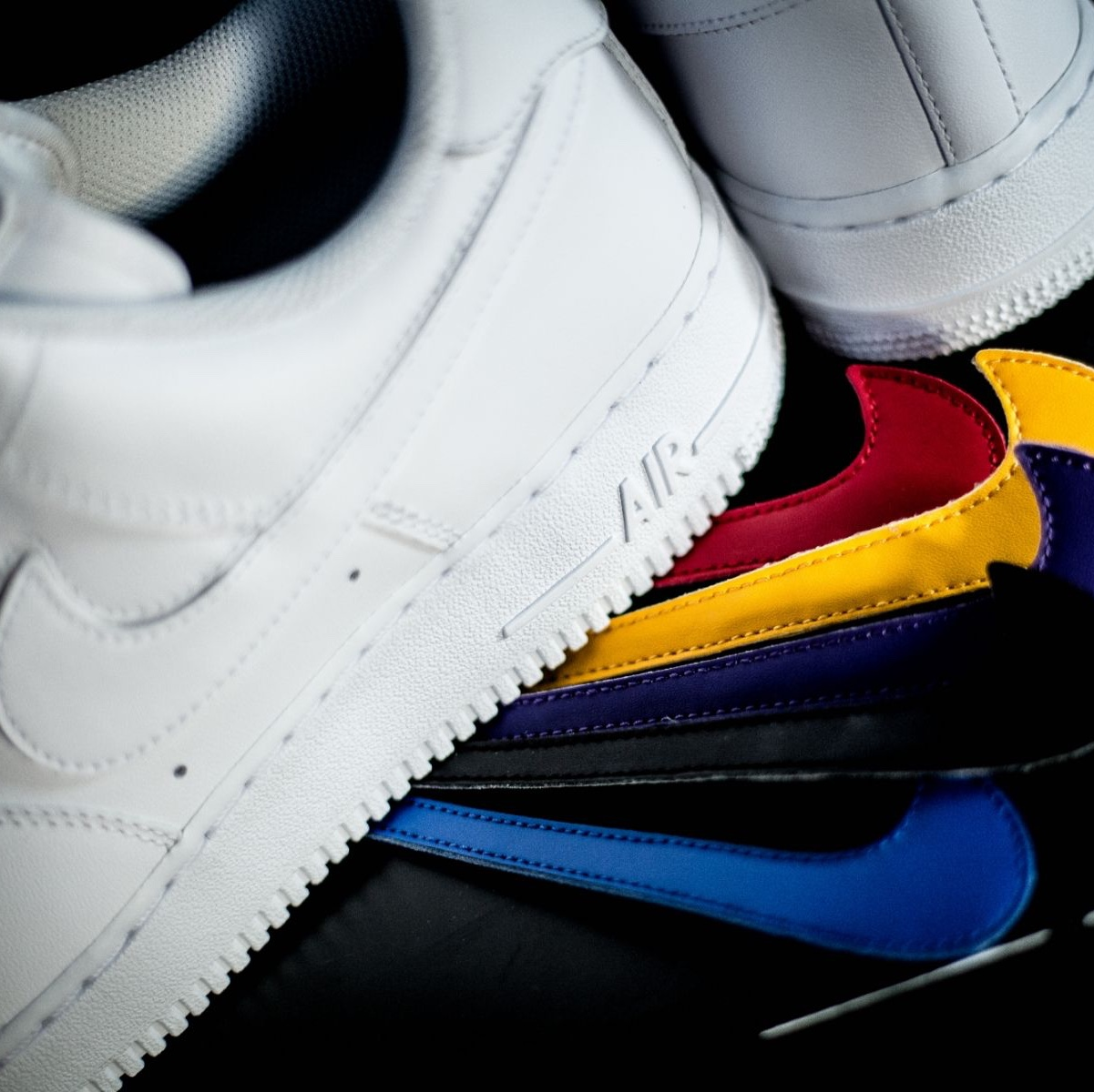 Nike Air Force 1 '07 QS Swoosh Pack White With Depop