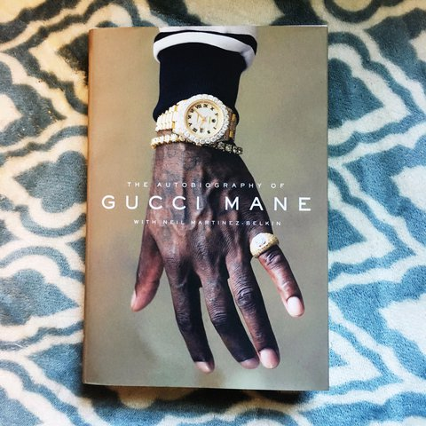 2af7f80b3ff56 Biography and autobiography Gucci mane signed copy. Sold as - Depop