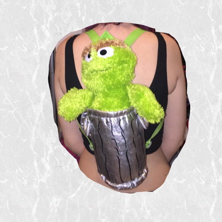 Oscar The Grouch Backpack Only Used A Few Depop