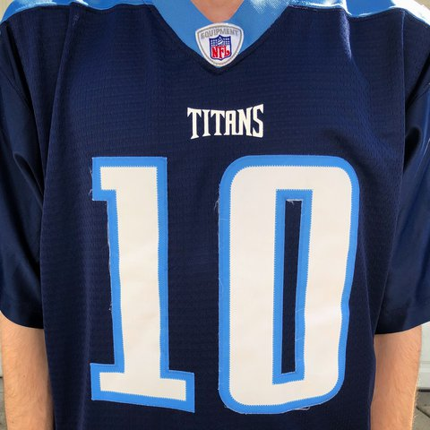 New Vince Young Tennessee Titans Jersey; Nearly new. 8.510 is a Depop  hot sale