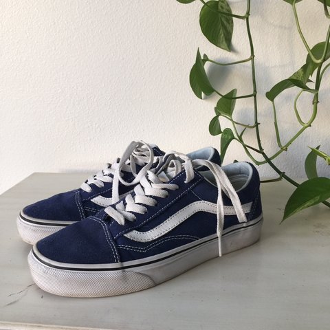 4193e78864 ROYAL BLUE OLD SKOOL VANS 💙 so comfortable and cute 🥰 for - Depop