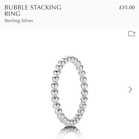 6524e24f3 @hannahjade1. 4 months ago. Bradford, United Kingdom. Pandora silver bubble  stacking ring size ...