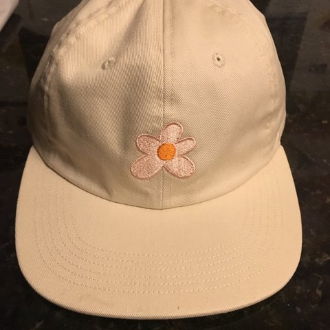 141a27571c96 cream golf le fleur snapback hat with pink flower. perfect - Depop
