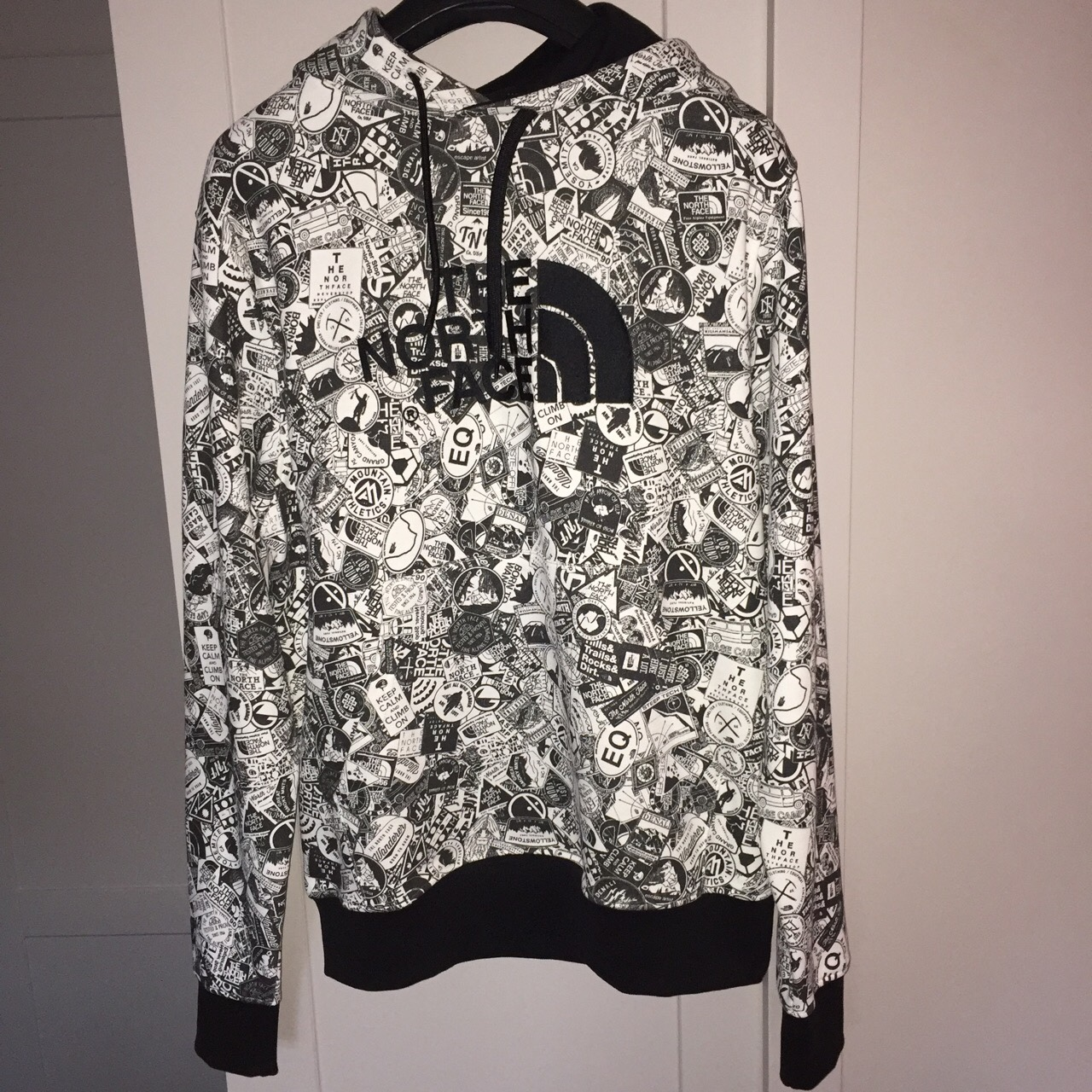 e4990fb8e The North Face - All Over Print Hoodie in... - Depop
