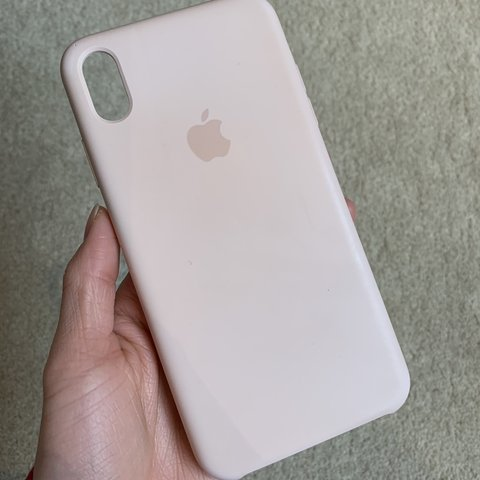 info for c9fe9 8297e iPhone XS Max Silicone case - Pink Sand Used for 4... - Depop