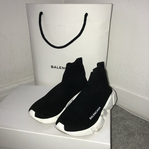 058323038aed7 ... AUTHENTIC women s Balenciaga Speed trainers. Still in the on - Depop  for whole family  on running ...