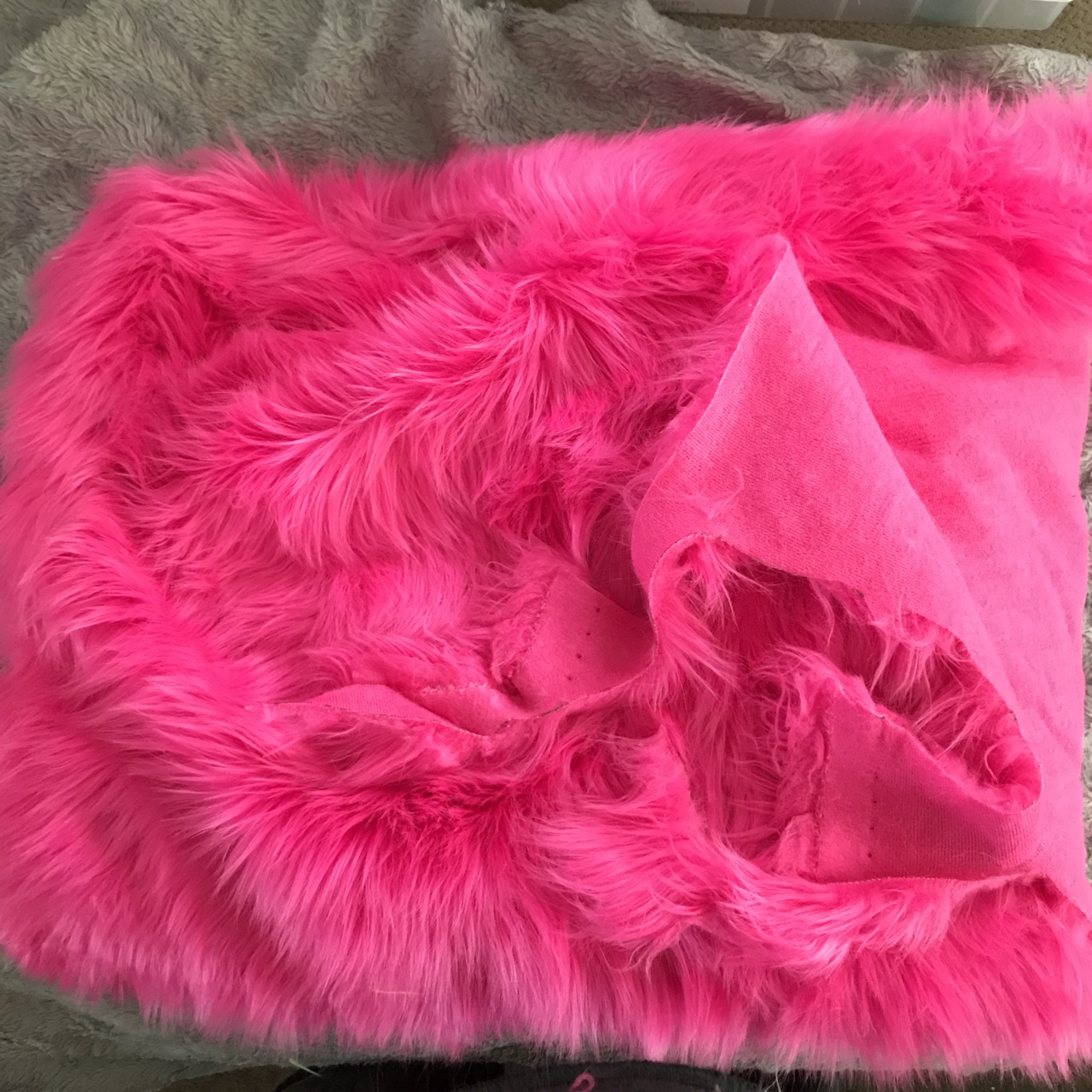 LUXURY Faux Fur Fabric Material WARM RED