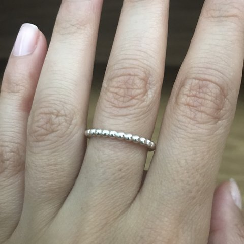 8744cd527 @joanna_chris. last year. Potters Bar, United Kingdom. PANDORA silver  bobble stacking ring size 52 in very good condition.