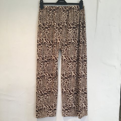 14138235a0b9 @pppp264. last year. Oxford, United Kingdom. lovely vintage leopard print  wide leg trousers in ...